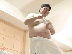 Asian Chubs carrying-on Wii..