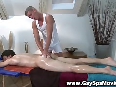 Twink masseur rubs nearby..