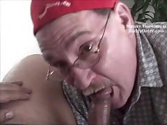 Cum Swallowing Grandpa Gumjob..