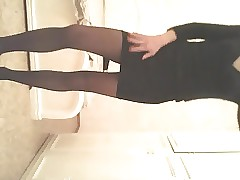 I parallel to nero pantyhose