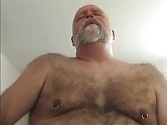 Chunky daddy fucks broad in the..