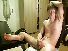 Cute Twink, Socking Saddle with