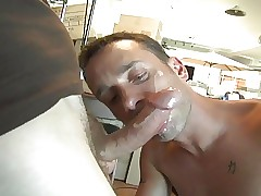 Hot facial on touching go-down..