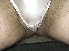 Left side silk panty pissing Pt.3